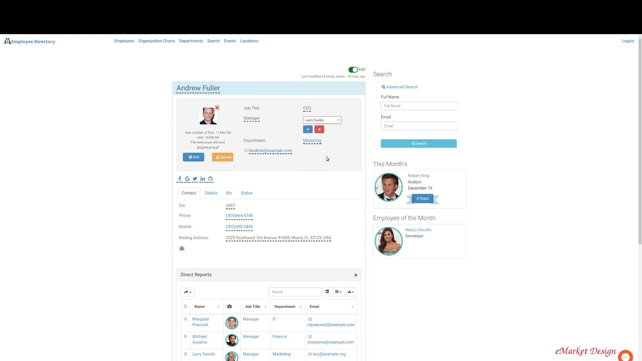 Employee Directory – Simple edits from frontend | eMD Plugins