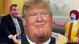 Trump eats fast food great american food.