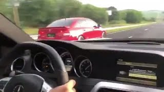 Benga é Benga: Mercedes-Benz C 63 AMG vs Honda Civic Si Turbo