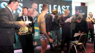 MARCO McCULLOUGH v ANDREI ISAEU - OFFICIAL WEIGH IN FROM BELFAST - THIS IS BELFAST
