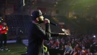 Joyner Lucas Performing his BET Cypher Freestyle Live in Lewiston, Maine.