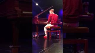 Boy plays selfmade song! Sick