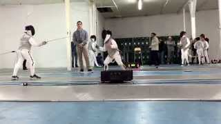 Y8 Gold Medal Bout 3-4                   Brooklyn Fencing March Youth Foil