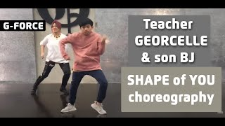 Teacher Georcelle dances Shape of You with son BJ at G-Force Dance Center