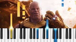 Marvel's Avengers: Infinity War - Official Trailer - EASY Piano Tutorial