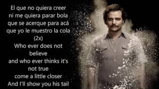 NARCOS - La Pelea Con el Diablo (With Spanish and English lyrics)