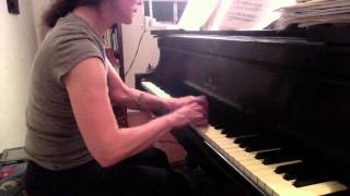 HD spot practicing Haydn Sonata no. 52 Presto Finale