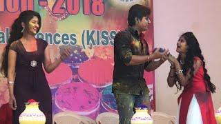 Mo Chuni Tale Black Money By Babushan Mohanty At KISS Holi Celebration | Sister Sridevi