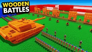 NEW Wooden Tank VS Toy Soldier Army (Wooden Battles Funny Gameplay)