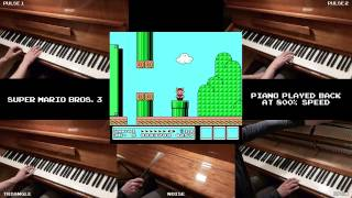 Super Mario Bros. 3 on piano... with SOUND EFFECTS!