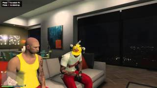 Grand Theft Auto V_on da couch with the wolfpack