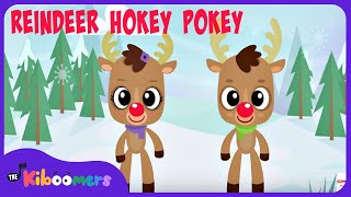 Reindeer Pokey | Christmas Songs for Kids | Reindeer Song | The Kiboomers