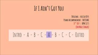 [Piano Accompaniment]If I Ain't Got you (Db key)(For Male Singer)