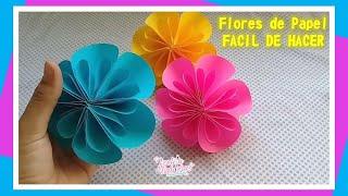 Flores de Papel / Facil de hacer