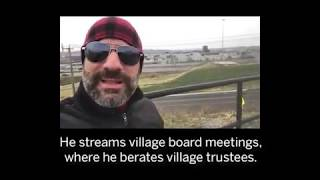 Solvay Mayor Derek Baichi berates his village board