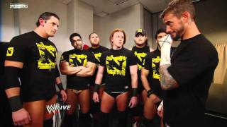 Wade Barrett & cm punk and The Nexus Backstage