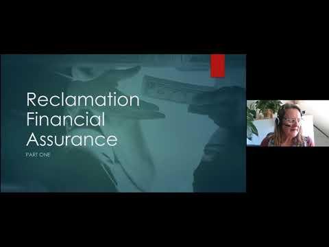 Non-metallic Mine Reclamation: Financial Assurance (Part 1)