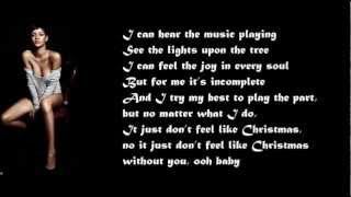 Rihanna -  I Just Don't Feel Like Christmas Without You / with lyrics on screen