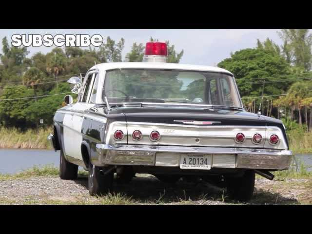 1962 Chevrolet Impala Police Cruiser. 60's Cop Chase inside!