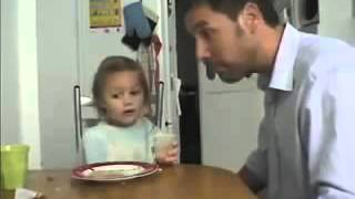A french father kids his cute baby girl - very #funny (don't miss it)
