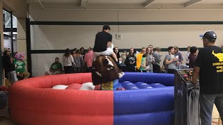 I RODE A MECHANICAL BULL!!