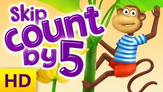 Skip counting by 5 for preschool and kindergarten kids - Learn how to skip count by 5