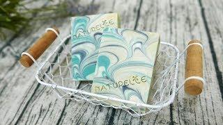 孔雀渲染母乳皂DIY - handmade soap with peacock swirl
