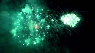 Drone inside fireworks, Dji Inspire 1 3x night  México