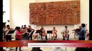 La Camerata de Cuerdas de la Unicach en el Museo del Café