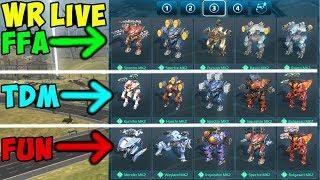 War Robots 3 Different Maxed Hangar Decks over 3 Hours Gameplay WR width=