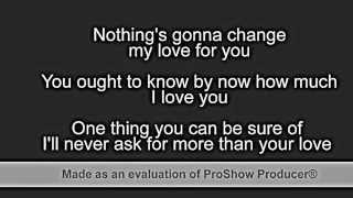 Nothing's Gonna Change My Love For You   Glenn Medeiros (with lyrics)