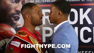 (WOW!!!) KELL BROOK AND ERROL SPENCE JR. TRADE WORDS DURING HEATED FACE OFF