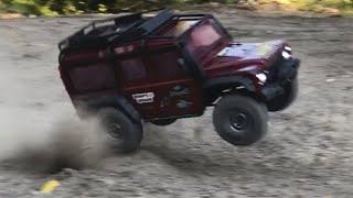 Traxxas TRX-4 Land Rover Defender Speed bashing