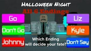 ROBLOX Halloween Night | All 6 Endings (Season 2, Episode 7)