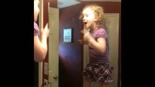 Girl mirror dancing