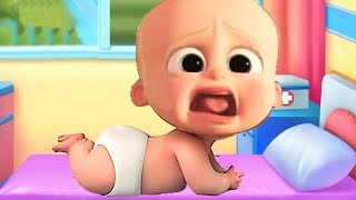 Little Baby Boss Care Doctor, Bath Time, Dress Up Learning Movie Game Cartoon for Kids. Learn Colors width=