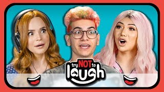 YouTubers React to Try to Watch This Without Laughing or Grinning #19