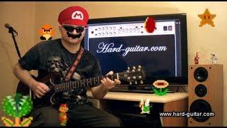 Super Mario Bros guitar cover Main Theme Nintendo - Polyphonic Guitar Sound