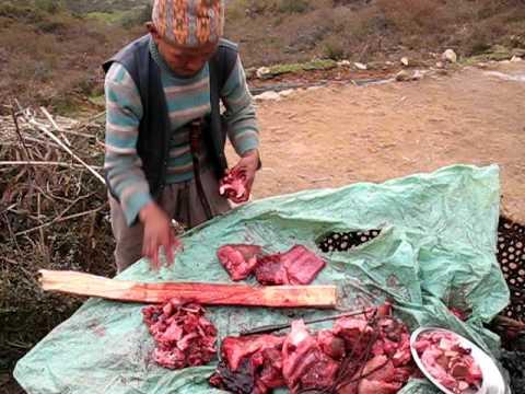 Nepali travelling butcher