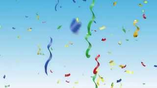 Party Background and Confetti Video HD!