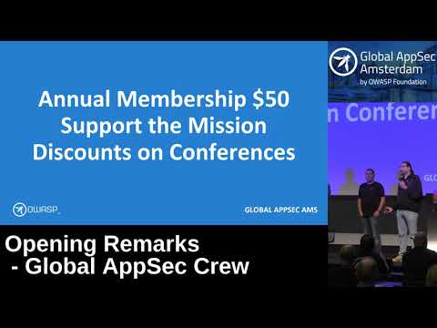 Opening Remarks - Global AppSec Crew