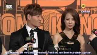 [Engsub] Kim Jong Kook & Song Ji Hyo @ 2013 MAMA Red Carpet