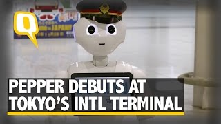 'Pepper the Robot' Makes Debut Appearance at Tokyo Airport