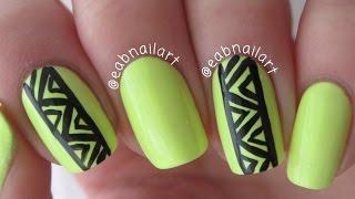 Edgy Neon Nail Art
