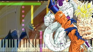 Dragon Ball Z - Fight Theme , SSJ Goku vs Frieza M811 (Piano Tutorial) [Synthesia]