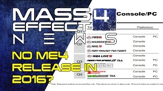 Mass Effect Andromeda - No ME4 Release In 2016?