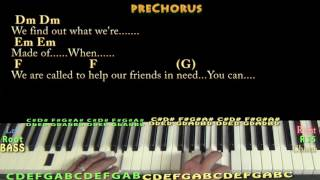 Count on Me (Bruno Mars) Piano Cover Lesson in C with Chords/Lyrics