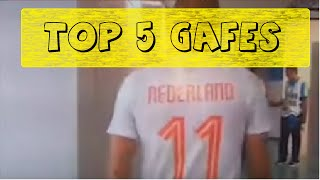TOP 5 GAFES DA TV