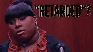 """Retarded"" Racist Zimmerman Trial Witness!!"