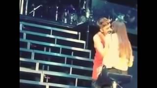 Justin Bieber Kissing a Girl Live on Stage (OLLG) - December 5, 2013